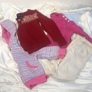 Baby Girl LOT 7 Pc Ralph Lauren GAP Sweater 2T 24M